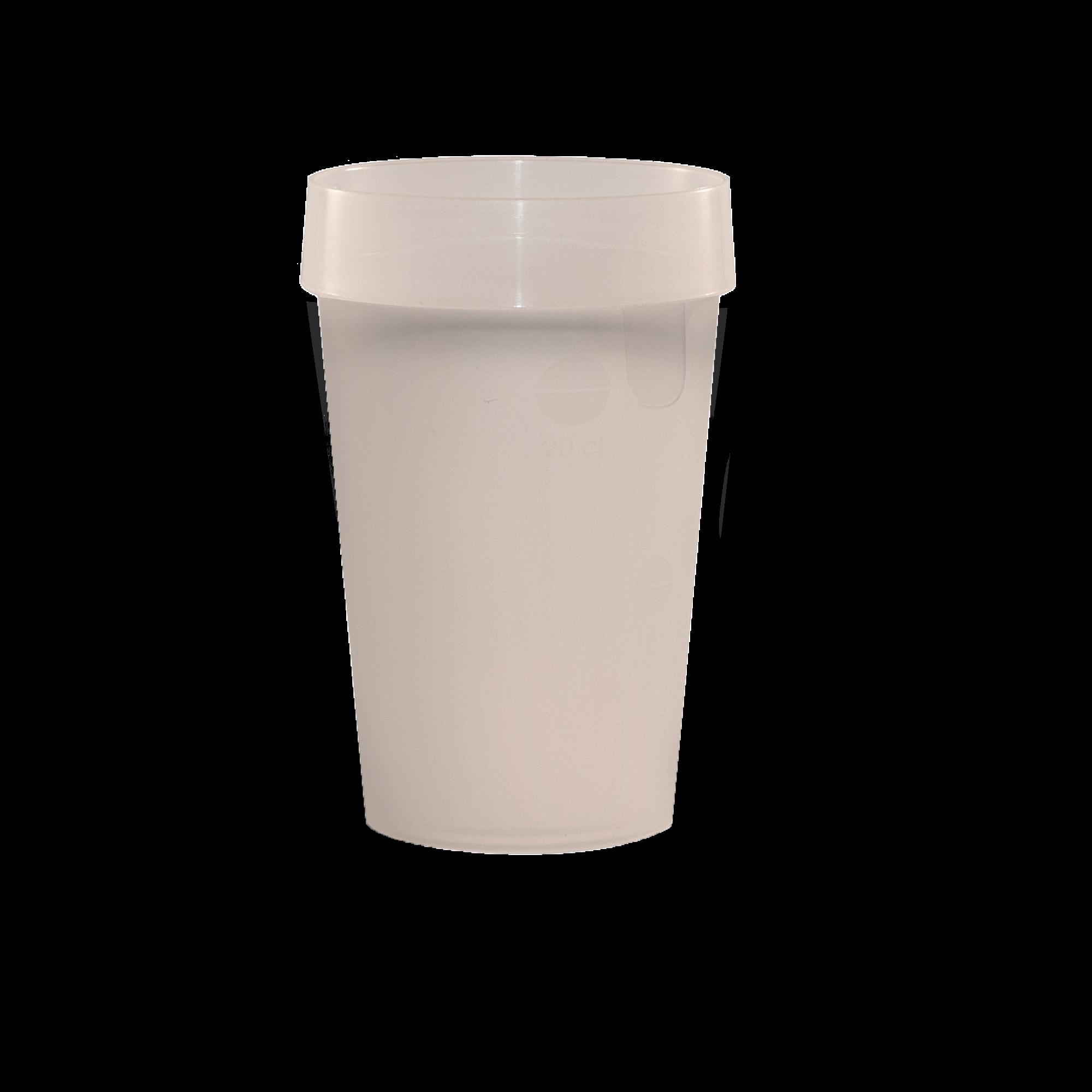 Gobelet réutilisable EP25 neutre givré