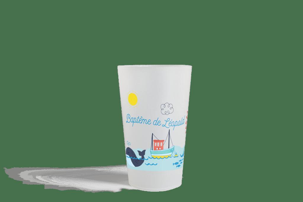 Gobelet réutilisable Esprit Planète Cup 25 pour Baptême de Léopold