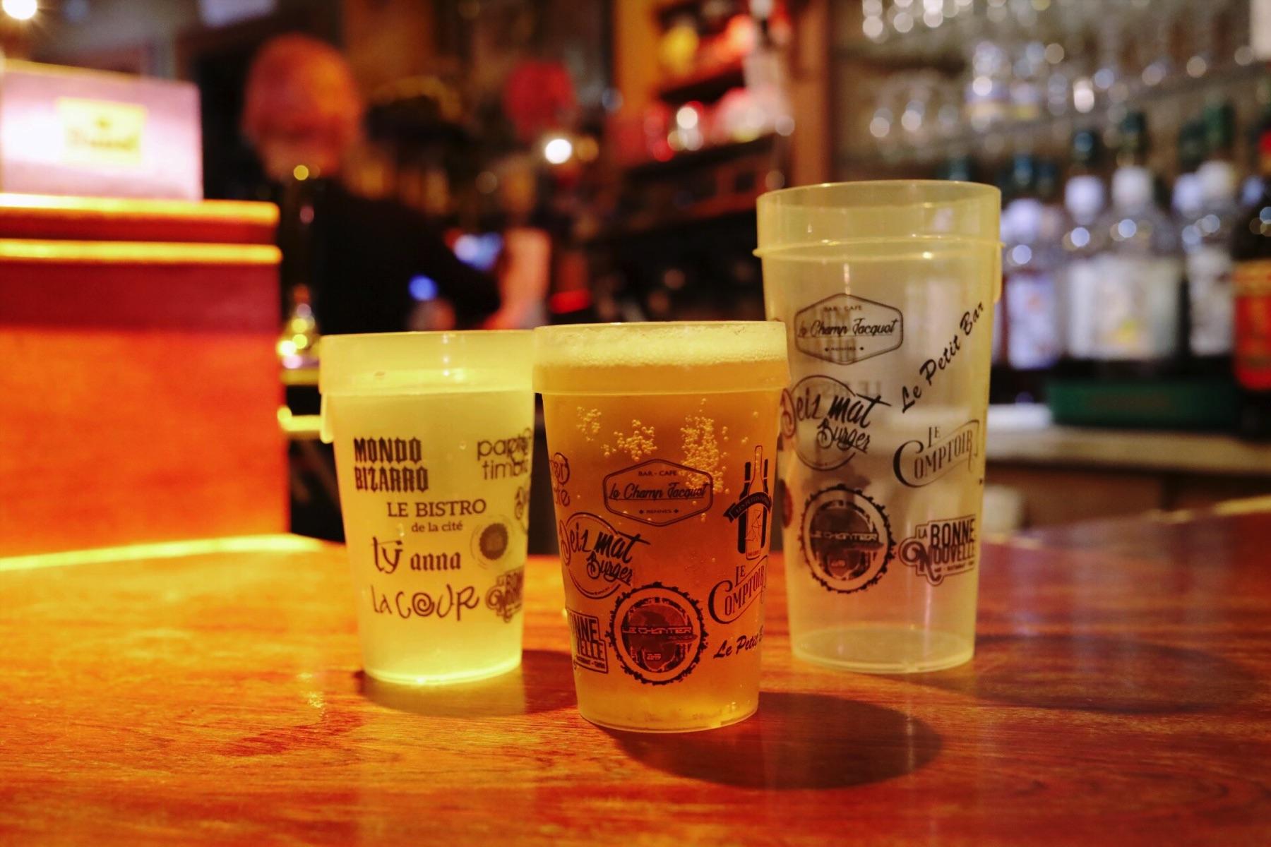 Les bars de Rennes et le gobelet réutilisable Esprit Planète