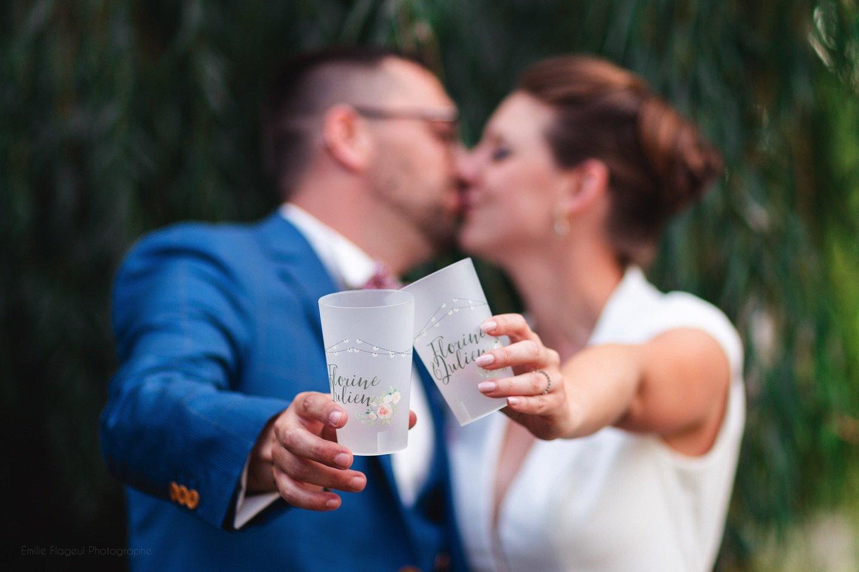 Les gobelets personnalisés pour Mariage Esprit Planète
